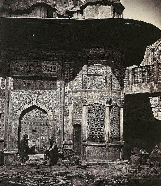 File:Figures at the Fountain of Sultan Ahmet III, Istanbul 1850s.jpg