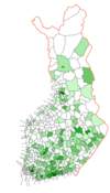 Finnish municipal elections, 2004, Green League.png