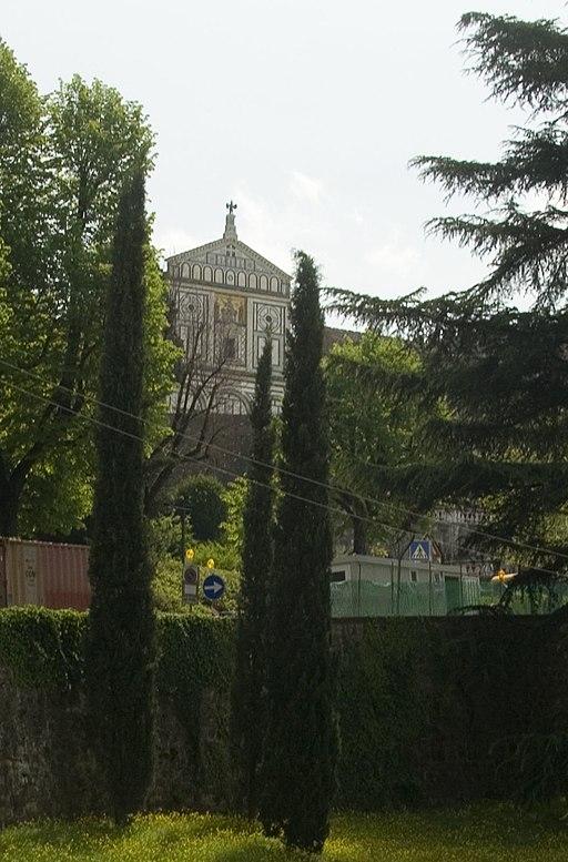 Firenze, Via del Monte alle Croci, vista sull'abbazia di San Miniato al Monte