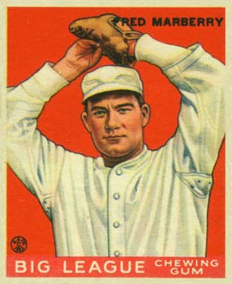 Firpo Marberry - Marberry 1933 Goudey baseball card.