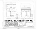 First Floor and Attic Plans - Fort Fred Steele, Bridge Tenders House, Fort Steele, Carbon County, WY HABS WYO,4-FOFEST,1D- (sheet 1 of 3).png