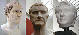First Triumvirate - From left to right: Julius Caesar, Marcus Licinius Crassus, and Pompey the Great