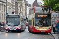 First bus 66982 (KX05 MHL) & Hedingham Omnibuses bus L355 (EU07 GVY), Colchester, 24 August 2013.jpg