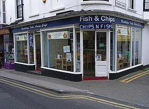 Fish and chip shop - A fish and chip shop in Broadstairs, United Kingdom