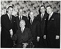 Five unidentified men and Mayor John F. Collins in Holyoke (10949962264).jpg