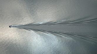 Wake - Kelvin wake pattern generated by a small boat.