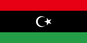 The flag of Libya