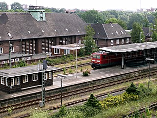 railway station in Flensburg, Germany