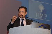 Nicolas Sarkozy ad un congresso del Partito popolare europeo, a Roma.