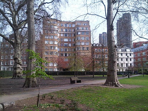 Florin Court from Charterhouse Square garden