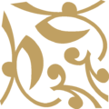 Flower Closed Ornament Gold Down Right.png