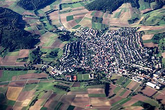 Groß-Bieberau - Aerial view