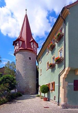 Marktbreit - The town wall tower Flurersturm