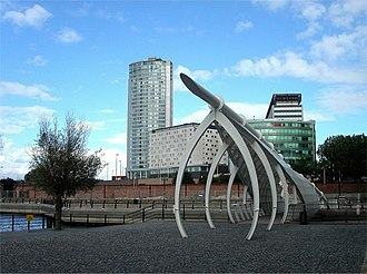 Prince's Dock, Liverpool - The footbridge of 2001 over Prince's Dock, Liverpool