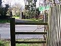 Footpath crosses B2162 Hampstead Lane - geograph.org.uk - 1212135.jpg