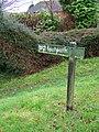 Footpath sign, Axford - geograph.org.uk - 1635340.jpg