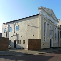 Former Bedford Row Methodist Chapel (now part of Vintners Parrot), Worthing.JPG