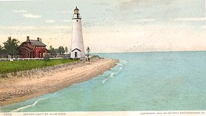 English: The Fort Gratiot Lighthouse in Port H...