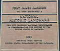 Fort James Jackson National Landmark plaque, Georgia, US.jpg