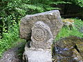 Fossil am Glemsbrunnen, Glemswald, Stuttgart.JPG