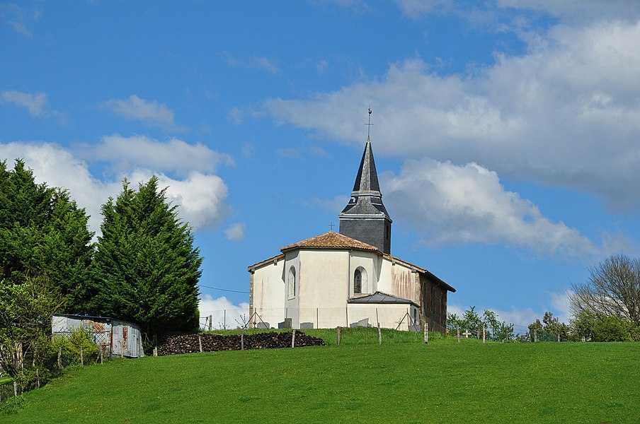 Church of Ante (municipality Sivry-Ante, Department Marne, France), taken from the Ruede la Gare