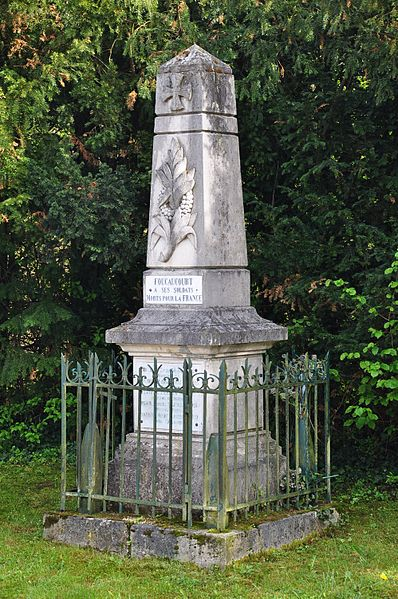 World War I memorial in Foucaucourt-sur-Thabas (Canton Seuil-d'Argonne, Meuse department, Lorraine region, France).