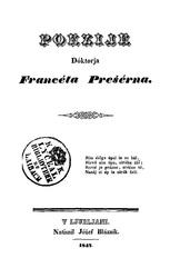 France Prešeren: Poezije