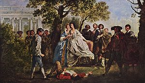 Scene from As you like it, Francis Hayman, c. 1750.