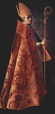 Ambrogio, vescovo di Milano, vestito delle insegne episcopali