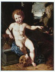 Allegori över Jesusbarnet som dödens betvingare