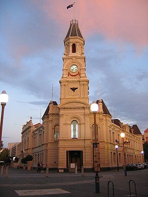 The Fremantle Town Hall, corner of High St, Wi...