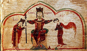 Philip of Swabia - Frederick Barbarossa with his sons Henry and Philip, Peter of Eboli, Liber ad honorem Augusti, 1196