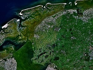 Friesland - Satellite image of Friesland