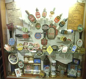 Fuller's Brewery - A selection of Fuller's brands from the museum display