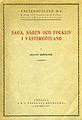 Götlind, Saga sägen och folkliv i Västergötland (1926) omslag.jpg
