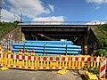 Güterring Leipzig EÜ Beuthstraße vor Erneuerung der Stahlbalkenbrücken Südansicht 2017a.jpg