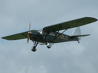 de Havilland Puss Moth aircraft