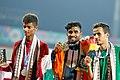 G.Laxshmanan Of India,the Gold Medalist,Qatar's Silver Medalist Yaser Salem And Saudi's Bronze Winner Tariq Ahmed.jpg