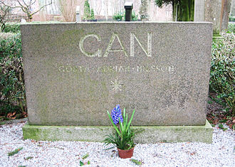 Gösta Adrian-Nilsson - Gösta Adrian-Nilsson's tombstone in Lund.