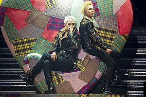 G-Dragon - Image: GD&TOP performance at Big Bang's Big Show, 2011