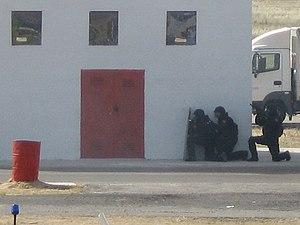 Grupo Especial de Operaciones - Members of the GEO assault a building during a training exercise