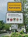 GER — BW — Regierungsbezirk Freiburg — Konstanz (Ortsschild mit Nennung der Partnerstädte) 2021.jpg