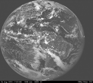 GOES-12 visible light image.