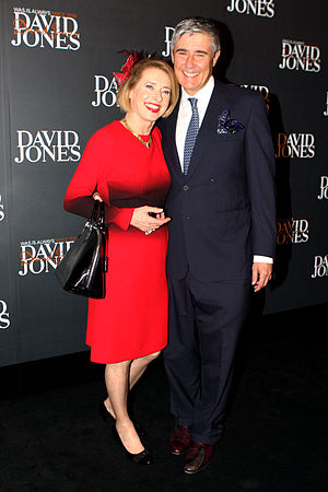 Gai Waterhouse - Waterhouse with her husband Robbie at the David Jones Autumn/Winter Fashion Launch in Sydney, February 2013