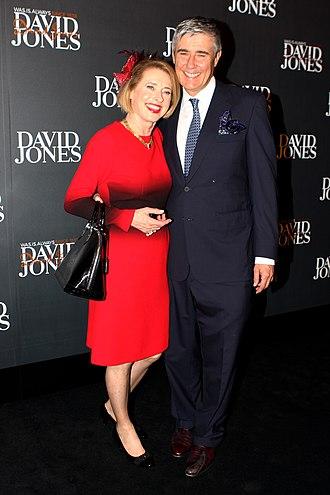 Gai Waterhouse - Waterhouse with her husband Robbie at the David Jones Autumn/Winter Fashion Launch in Sydney, February 2013