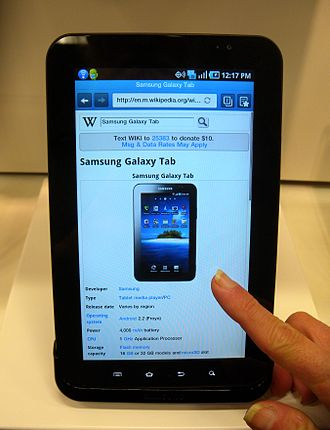 Culture of South Korea - Samsung Galaxy Tab