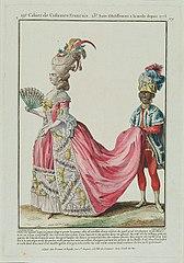 Szlachcianka z murzynkiem niosącym jej tren