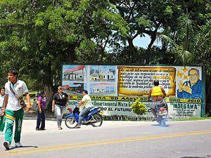 Aracataca - Image: Garcia Marquez Wall in Aracataca