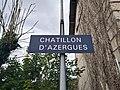 Gare de Châtillon (Rhône) - Panneau Châtillon d'Azergues (août 2018).jpg