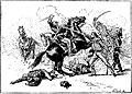 Garibaldi et Missori attaqués par quatre dragons, à la bataille de Milazzo (1860).jpg